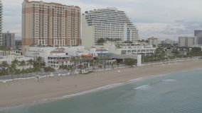 Miami Beach Coastline. Aerial footage from the coastline of Miami Beach stock footage
