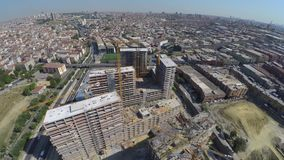 Aerial footage of construction site. Top view stock video