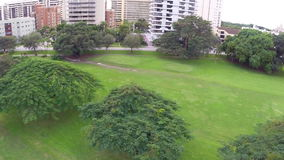 Aerial footage of the Coral Gables golf course Stock Image