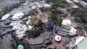 Aerial footage of Disney Stock Image