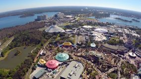 Aerial footage of Disney Royalty Free Stock Image