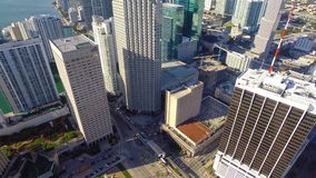 Aerial footage of Downtown Miami Stock Photography