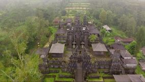 Aerial footage and drone video of Besakih Temple on Bali island