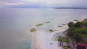 Aerial footage in Gili Meno Island, Indonesia.