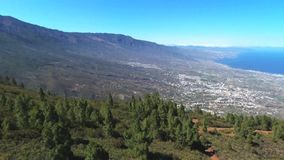 Aerial footage of Guimar area in southTenerife Island, Canary island, Spain. stock footage