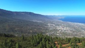 Aerial footage of Guimar area in southTenerife Island, Canary island, Spain. stock video