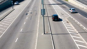 Aerial Footage of Highway and Overpass Urban Life with cars and trucks. Hd stock video footage