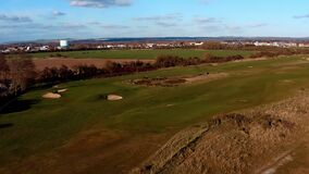 Aerial footage of Littlehampton Golf Course