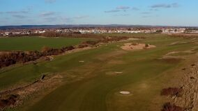 Aerial footage of Littlehampton Links Golf Course