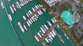 Aerial footage of Miami Beach Stock Photo