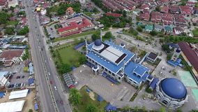 Aerial footage of a mosque stock video