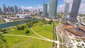 Aerial footage Museumn Park stock video footage