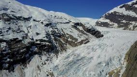Aerial footage of Nigardsbreen glacier in Norway stock footage