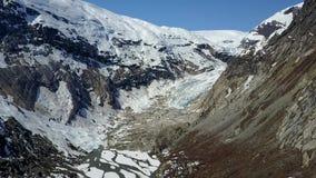 Aerial footage of Nigardsbreen glacier in Norway stock video