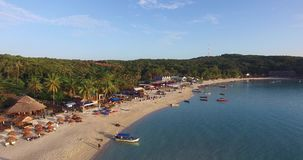 Aerial flyby of Perhentian island in Malaysia stock footage