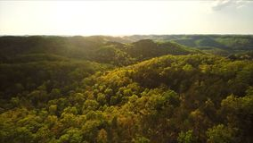 Red River Gorge sunset stock video footage