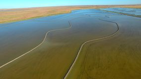 Aerial footage of Rice Growing NSW stock video footage