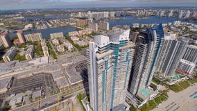 Aerial footage of Sunny Isles Beach Royalty Free Stock Photo