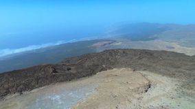 Aerial footage of Teide volcanic landscape in Tenerife, Canary island, Spain. stock video