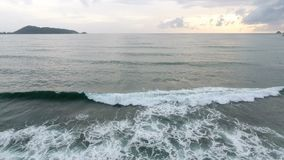 Aerial footage, Tropical sea with beach wave stock video footage