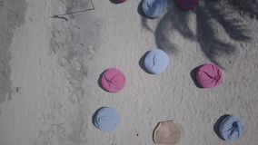 Aerial Beach Party stock footage