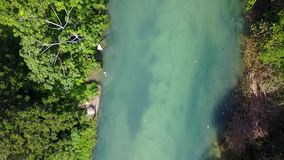 Aerial footage of White River, Ocho Rios, Jamaica stock video footage