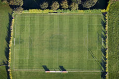 Aerial Football Pitch Stock Photos