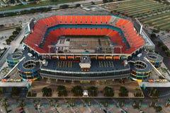 Aerial of football stadium Royalty Free Stock Photos