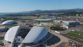 Aerial Football stadium Fischt. Sochi, Adler , Russia, Olympic Torch and Fisht stadium built for Winter Olympic Games Royalty Free Stock Photos