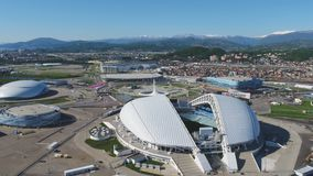 Aerial Football stadium Fischt. Sochi, Adler , Russia, Olympic Torch and Fisht stadium built for Winter Olympic Games Stock Photo