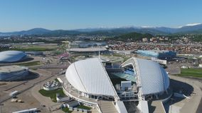 Aerial Football stadium Fischt. Sochi, Adler , Russia, Olympic Torch and Fisht stadium built for Winter Olympic Games Royalty Free Stock Photography