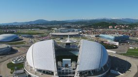 Aerial Football stadium Fischt. Sochi, Adler , Russia, Olympic Torch and Fisht stadium built for Winter Olympic Games Royalty Free Stock Photo