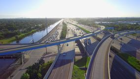 Aerial 595 Fort Lauderdale FL stock footage