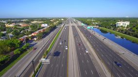 Aerial 595 Fort Lauderdale FL stock video
