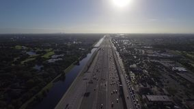 Aerial 595 Fort Lauderdale FL stock video footage