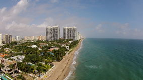 Aerial of Fort Lauderdale Florida stock photos