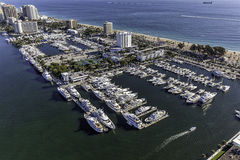 Aerial Fort Lauderdale, Florida. Taken with helicopter Stock Photo