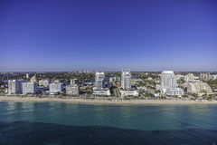Aerial Fort Lauderdale, Florida. Taken with helicopter Stock Image