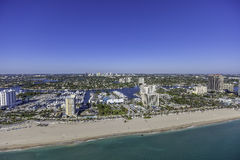 Aerial Fort Lauderdale, Florida. Taken with helicopter Royalty Free Stock Photos