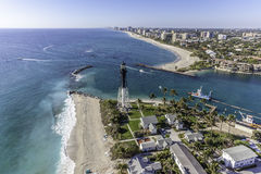 Aerial Fort Lauderdale, Florida. Taken with helicopter Royalty Free Stock Image