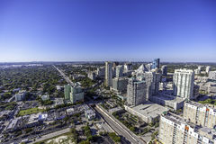 Aerial Fort Lauderdale, Florida. Taken with helicopter Stock Photography