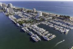 Aerial Fort Lauderdale, Florida. Taken with helicopter Royalty Free Stock Photography