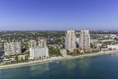 Aerial Fort Lauderdale, Florida. Taken with helicopter Stock Photos