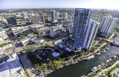 Aerial Fort Lauderdale, Florida. Taken with helicopter Royalty Free Stock Photo