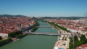 Aerial France Lyon June 2018 Sunny Day 30mm 4K Inspire 2 Prores