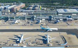 Aerial of Frankfurt International Airport Stock Image