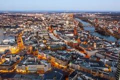Aerial of Frankfurt am Main Royalty Free Stock Images