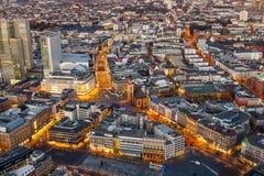 Aerial of Frankfurt am Main Royalty Free Stock Photo