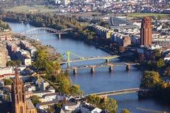 Aerial of Frankfurt an Main Stock Photo