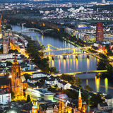 Aerial of Frankfurt an Main Royalty Free Stock Images